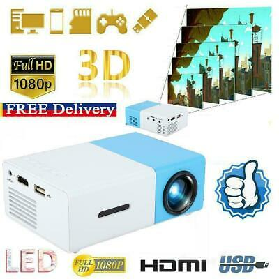 AU69.63 • Buy YG300 1080P HD Home Theater Cinema USB HDMI Mini Portable LCD LED Projector Blue