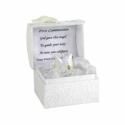FIRST HOLY COMMUNION ANGEL,1st COMMUNION GIFT, HOLY COMMUNION GLASS ANGEL NEW • 7.99£