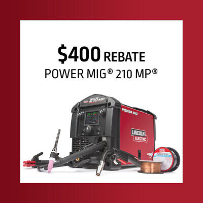 Lincoln Electric Power MIG® K3963-1 210 MP® Multi-Process Welder W/ Free Hat • 1,163.21£