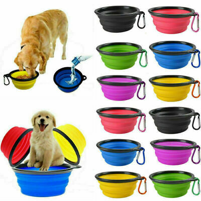 Dog Water Feeding Bowl Travel Play Disc Collapsible Portable Bowl Silicone  • 3.15£