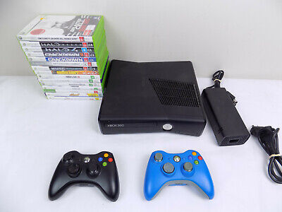 AU206.10 • Buy Like New Xbox 360 Slim Console 250Gb + 2x Wireless Controllers + 15x Games