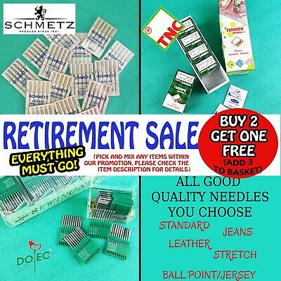 Quality Sewing Machine Needles Buy 2  Get 1 Free (add 3 To Basket). • 4.99£
