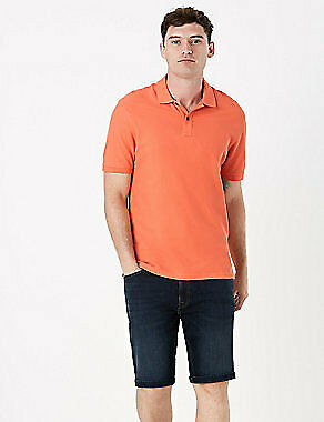 NEW RRP £14.99 Ex Marks And Spencer Soft Terracotta Polo Shirt • 4.99£