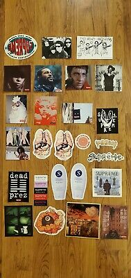 $ CDN75.18 • Buy Supreme LOT OF 26 Stickers SS19 FW19 SS20 FW20 Box Logo Scarface Madonna Promo