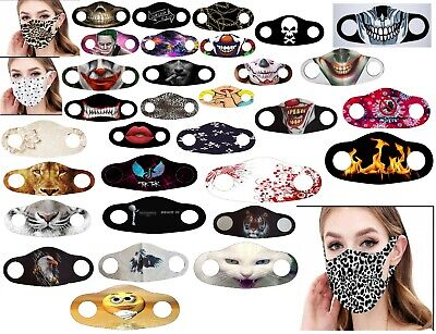 New Reusable Face Mask Washable Masks UK Mouth Nose Breathable Protection Cover • 3.98£