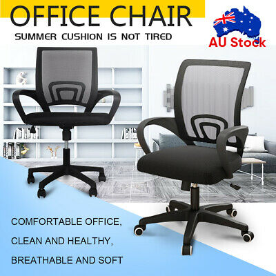 AU59.09 • Buy Office Chair Gaming Computer Mesh Chairs Ergonomic Executive Mid Back Black