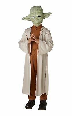 Yoda Star Wars Kids Fancy Dress Movie Character Boys Childrens Costume + Mask • 21.99£