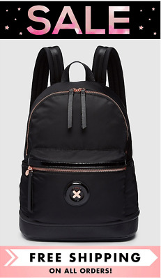 AU119 • Buy Mimco Daydream Zip Backpack Black With Rose Gold Bnwt Rrp$199- Free Express Post