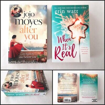 AU10 • Buy 2x AFTER YOU And WHEN IT's REAL Jojo Moyes Erin Watt Paperback Novel Books