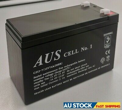 AU48 • Buy Aus Cell No.1 Sealed Lead Acid Rechargeable Alarm UPS Battery 12V7Ah CJ12-7