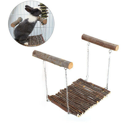£11.28 • Buy Guinea Pig Pet Small Animal Hamster Toy Swing Cage Accessories Hanging Wood Cage