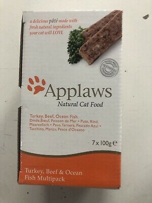 Applaws Cat Pate With Turkey, Beef And Fish (7Pk) 100g Free Delivery • 8.99£