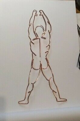 Wire Wall Art Sculpture Male Nude Figure Hand Made  • 27.50£