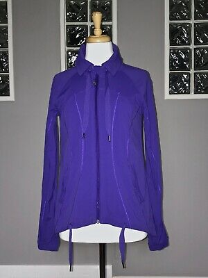 $ CDN78 • Buy Lululemon Transition Jacket 6 Bruised Berry Studio Swift Lightweight Eeuc