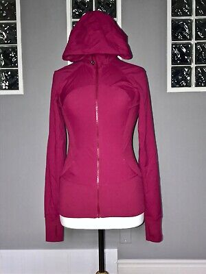 $ CDN100 • Buy Lululemon In Flux Jacket 8 Berry Rumble Reversible Studio Swift Euc Slim Fit