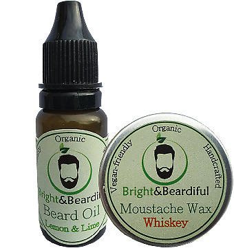 Conditioning Beard Oil 15ml & Strong Hold Moustache Wax 15ml Styling, Growth • 6.08£