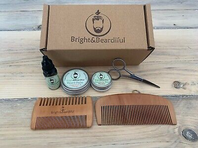 Beard Gift Set | Beard Oil, Balm, Wax | Comb & Scissors | Birthday | Care Kit • 18.99£