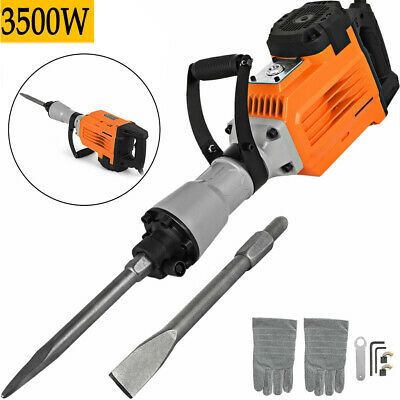 3500W Electric Demolition Hammer Breaker Jack Drill Concrete Hammer Power Tool • 110.98£