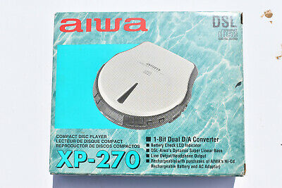 AIWA XP-270 Personal CD Player Boxed  -looks Barely Used • 34.99£
