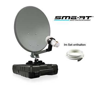 35cm Solid Satellite Dish, LNB, Cable, Suction Cup For Camping Trucks Caravans • 49.99£