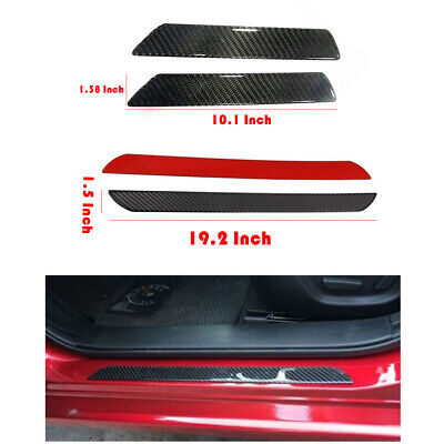 $39.99 • Buy Parts Accessories Carbon Fiber Stickers Door Sill Protector Car SUV Universal