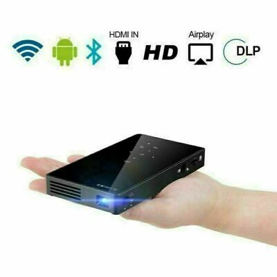 AU289.85 • Buy Mini Pocket DLP Android Wifi Bluetooth 1080P HD Home Cinema Projector USB TF AU