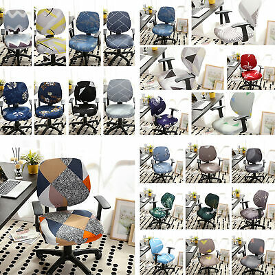 AU16.29 • Buy Polyester Stretch Home Office Computer Chair Cover Floral Swivel Chair Protector