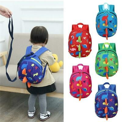 Baby Toddler Backpack Kids Safety Strap Harness Dinosaur Reins-Cartoon Bags • 7.77£