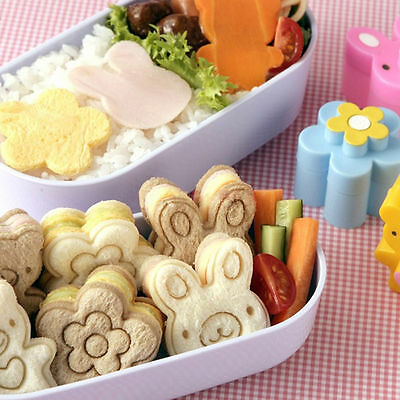 Sandwich Crust Cutter Cookie Bread Cake Toast MoldAYabbit Bear Flower Shape Bp • 4.25£