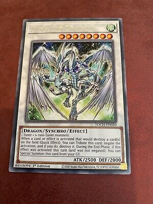 TOCH-EN050 Stardust Dragon Rare 1st Edition Mint YuGiOh Card • 0.99£