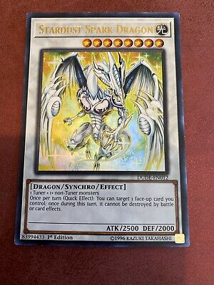 DUDE-EN012 Stardust Spark Dragon Ultra Rare 1st Edition Mint YuGiOh Card • 1.50£
