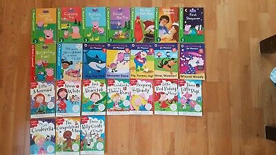 Reading With Phonics & Peppa Pig Reading Books - 24 Books - Excellent Condition • 20£