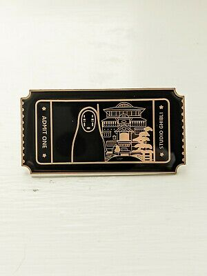 No Face Spirited Away Ticket Hard Enamel Pin Studio Ghibli Anime Badge • 4.99£