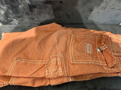True Religion W32 Distressed Zipper Fly Sandy Coloured Shorts Never Worn! • 40£