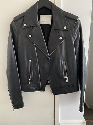 AU900 • Buy Scalan Theodore Black Leather Jacket - Size 10 - Perfect Condition RRP $1,200