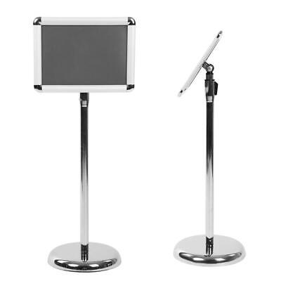 A4 Display Floor Sign Stand Menu Poster Standing Holder Ads Board Display Silver • 19.99£