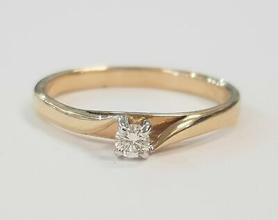 AU499 • Buy 9ct YELLOW GOLD DIAMOND SOLITAIRE DRESS RING TDW 10pt VALUED $949