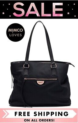 AU149 • Buy Mimco Echo Worker Nylon Tote Shoulder Bag Black With Rose Gold Bnwt Rrp$249.00
