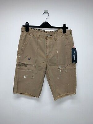Designer True Religion Mens Distressed Shorts Uk W32  Bnwt 1870 • 39.99£