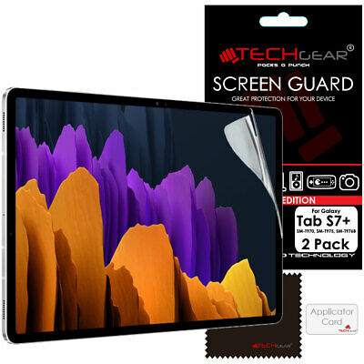 £3.95 • Buy 2x TECHGEAR Screen Protector Guards For Samsung Galaxy Tab S7 Plus T970 T975/6