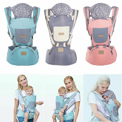 Ergonomic Infant Baby Carrier With Hip Seat Adjustable Wrap Sling Backpack Bag • 15.38£