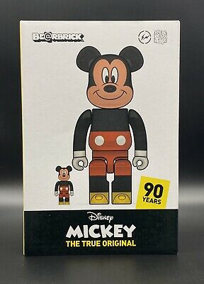 $899.95 • Buy Medicom Fragment Mickey Mouse 90th Ann. Bearbrick 2019 400% 100% IN HAND