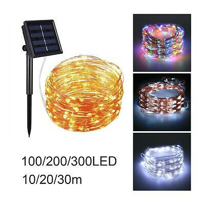 10/20/30m LED Solar String Lights Waterproof Copper Wire Outdoor Garden Party UK • 5.99£