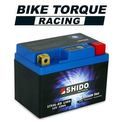 Shido Lithium Ion Battery 71% Lighter Than Lead Acid - Replaces YTX4L-BS • 38£