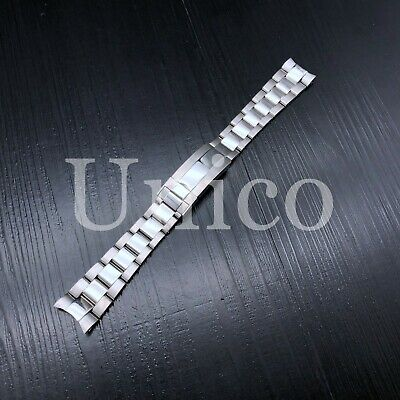 $ CDN56.12 • Buy Oyster Watch Bracelet Band For Rolex Submariner Shiny/center Flip Lock Heavy