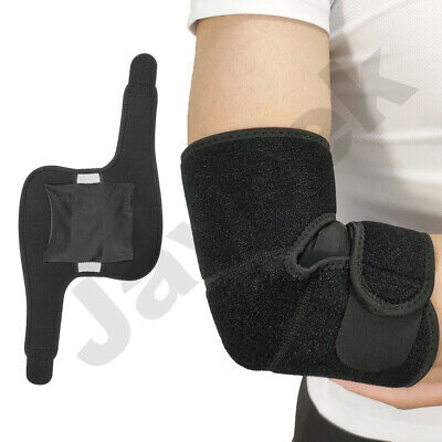 Elbow Support Arm Brace Strap For Tennis Golfer Pain Relief Elasticate Easy Fit  • 3.59£