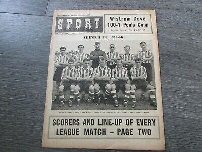 £6.99 • Buy Sport Express Magazine Chester FC 1955 Football Team Cover Picture 30/09/55