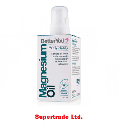 BetterYou Magnesium Oil Original Body Spray Joint Muscle Recovery Relax - 100ml • 10.55£