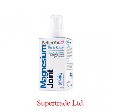 BetterYou Magnesium Oil Joint Spray Body Glucosamine Support Function - 100ml • 10.40£