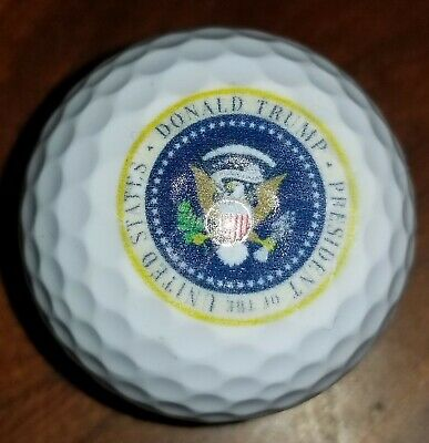 Presidential Seal Golf Ball 45th Donald Trump W/Display Cube • 19.09£